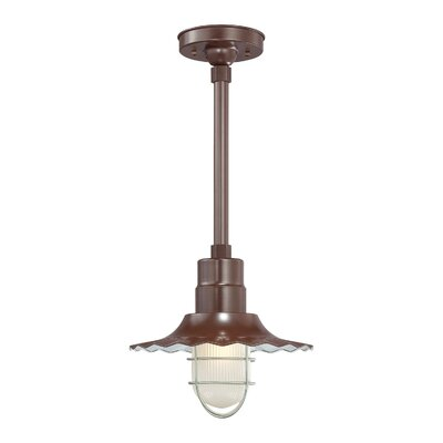 Fitzhugh 1-Light Kitchen Island Pendant Size: 11.25 H x 12 W, Finish: Architectural Bronze