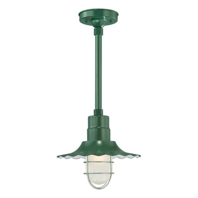 Fitzhugh 1-Light Kitchen Island Pendant Size: 11.25 H x 12 W, Finish: Satin Green