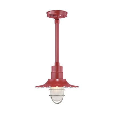 Fitzhugh 1-Light Mini Pendant Size: 11.25 H x 12 W, Finish: Satin Red