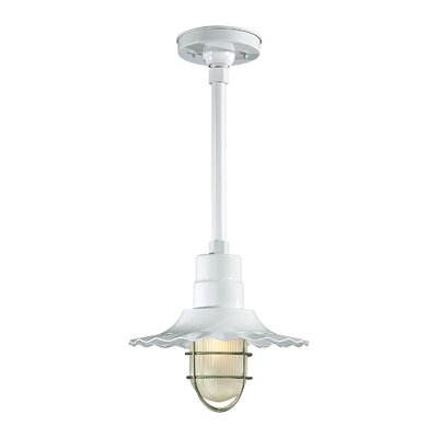 Fitzhugh 1-Light Mini Pendant Size: 11.25 H x 12 W, Finish: White