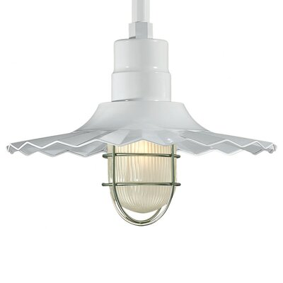 Fitzhugh 1-Light Kitchen Island Pendant Finish: White, Size: 11.25 H x 15 W
