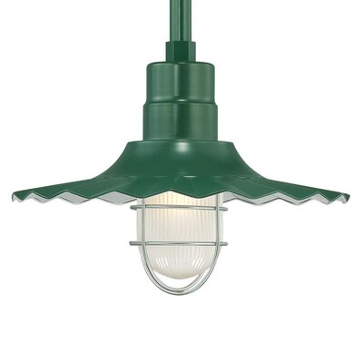 Kaden 1-Light Kitchen Island Pendant Finish: Satin Green, Size: 11.25 H x 15 W