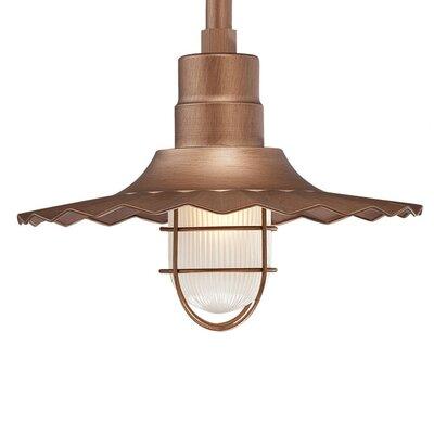 Fitzhugh 1-Light Mini Pendant Size: 11.25 H x 15 W, Finish: Copper