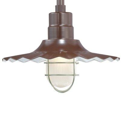 Fitzhugh 1-Light Mini Pendant Size: 11.25 H x 15 W, Finish: Architectural Bronze