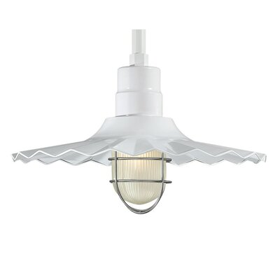 Fitzhugh 1-Light Mini Pendant Size: 11.25 H x 18 W, Finish: White