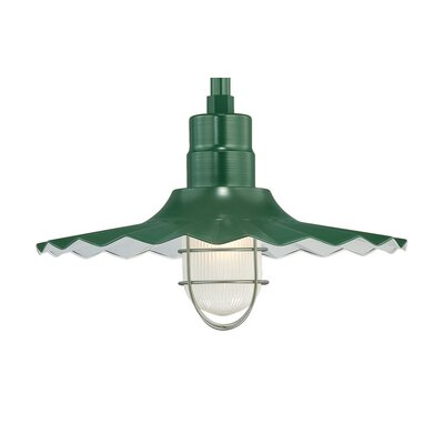 Fitzhugh 1-Light Kitchen Island Pendant Finish: Satin Green, Size: 11.25 H x 18 W