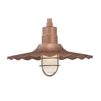 Fitzhugh 1-Light Kitchen Island Pendant Finish: Copper, Size: 11.25 H x 18 W