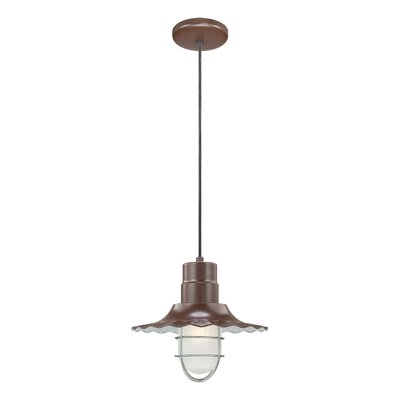 Fitzhugh 1-Light Mini Pendant Finish: Satin Green, Size: 11.25 H x 15 W