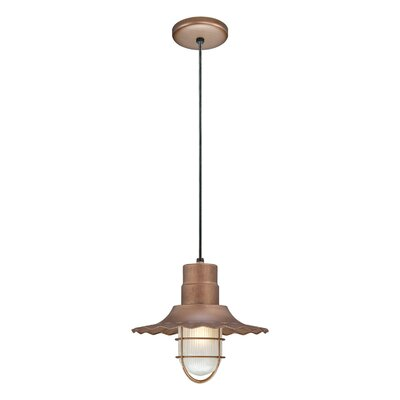 Kaden 1-Light Kitchen Island Pendant Size: 11.25 H x 12 W, Finish: Copper