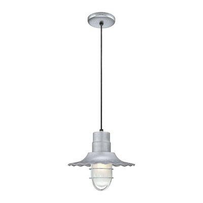 Fitzhugh 1-Light Mini Pendant Size: 11.25 H x 12 W, Finish: Galvanized