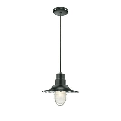 Fitzhugh 1-Light Mini Pendant Size: 11.25 H x 12 W, Finish: Satin Black