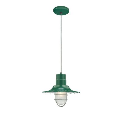 Kaden 1-Light Kitchen Island Pendant Size: 11.25 H x 12 W, Finish: Satin Green