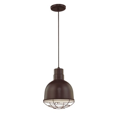 Fitzhugh 1-Light Kitchen Pendant Finish: Architectural Bronze