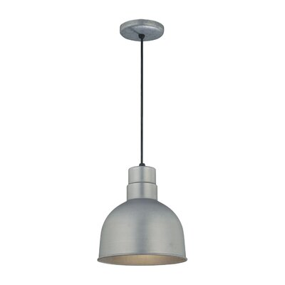 Fitzhugh 1-Light Kitchen Inverted Pendant Finish: Galvanized