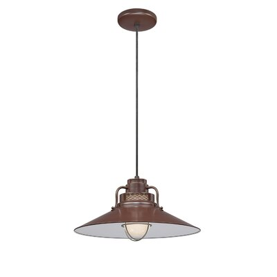 Fitzhugh 1-Light Glass Mini Pendant Size: 10 H x 18 W, Finish: Architectural Bronze