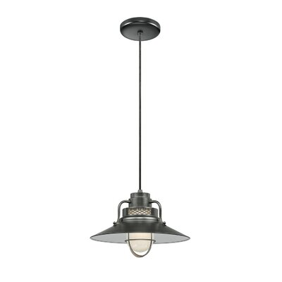 Kaden 1-Light Kitchen Island Pendant Size: 9.5 H x 14 W, Finish: Satin Black