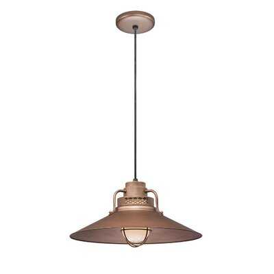 Fitzhugh 1-Light Glass Kitchen Island Pendant Finish: Copper, Size: 10 H x 18 W