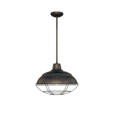 Bruges 1-Light Pendant Finish: Rubbed Bronze