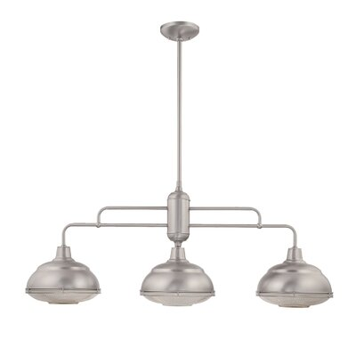 Bruges 3-Light Kitchen Pendant Finish: Satin Nickel