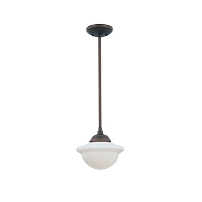 Bruges 1-Light Mini Pendant Finish: Rubbed Bronze