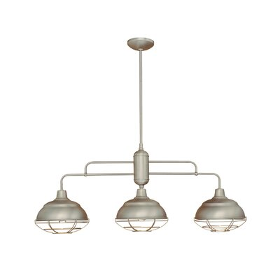 Bruges 3-Light Kitchen Island Pendant Finish: Satin Nickel