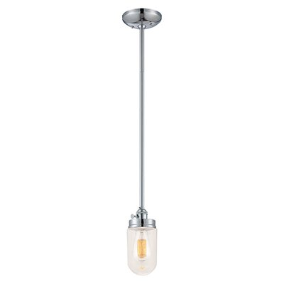 Bruges 1-Light Mini Pendant Finish: Chrome