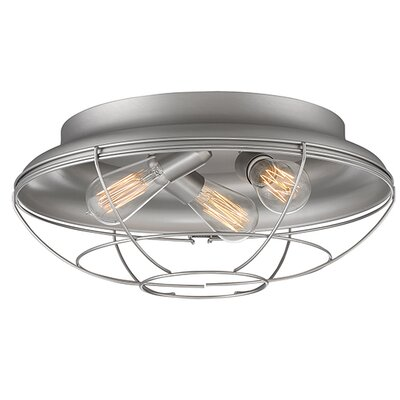 Bruges 3-Light Flush Mount Finish: Satin Nickel