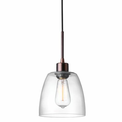 Arinze 1-Light Oil Brushed Bronze Mini Pendant