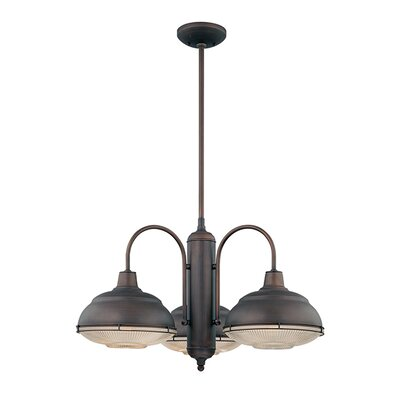 Bruges 3-Light Chandelier Finish: Rubbed Bronze
