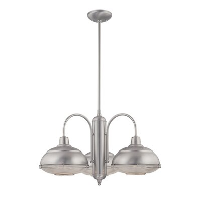 Bruges 3-Light Chandelier Finish: Satin Nickel