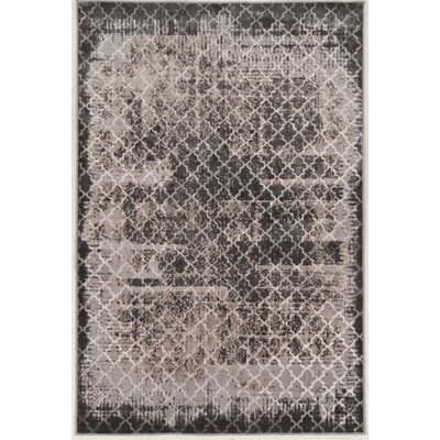 Vega Trellis Gray Area Rug Rug Size: Rectangle 5 x 76