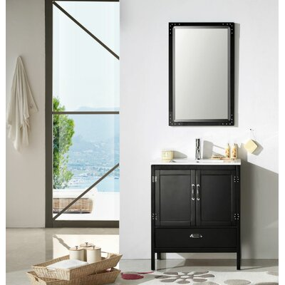 Cindi 30 Single Bathroom Vanity Set Base Finish: Matte Black