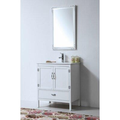 Cindi 30 Single Bathroom Vanity Set Base Finish: White