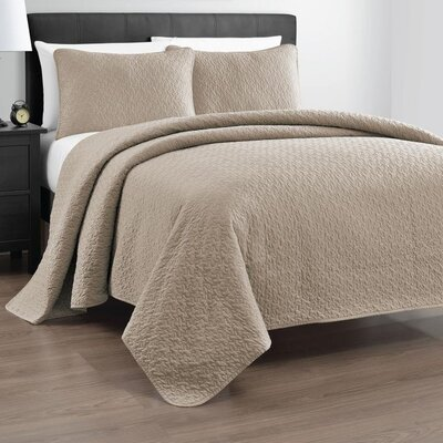 Gayla 3 Piece Reversible Quilt Set Size: Full / Queen, Color: Khaki