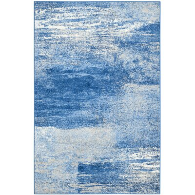 Costa Mesa Silver/Blue Area Rug Rug Size: 9 x 12