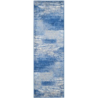 Costa Mesa Silver/Blue Area Rug Rug Size: Runner 26 x 8
