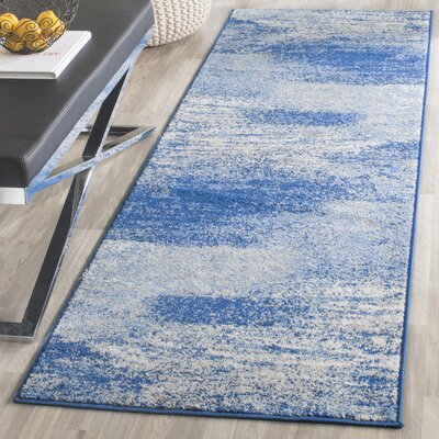 Costa Mesa Silver/Blue Area Rug Rug Size: Runner 26 x 22