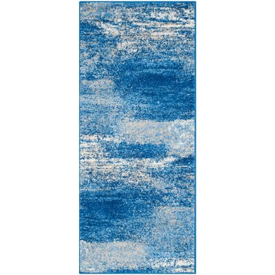 Costa Mesa Silver/Blue Area Rug Rug Size: Runner 26 x 6
