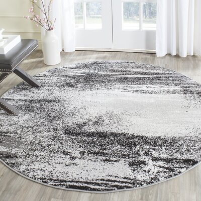 Costa Mesa Silver Area Rug Rug Size: Round 6