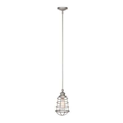 Leda 1-Light Mini Pendant Finish: Galvanized