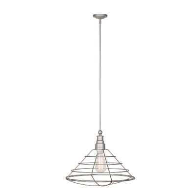 Leda 1-Light Foyer Pendant Finish: Galvanized