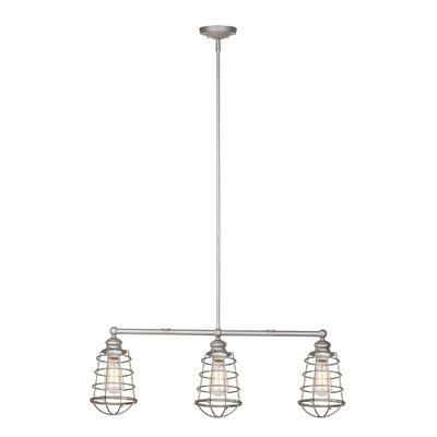 Leda 3-Light Kitchen Island Pendant Finish: Galvanized