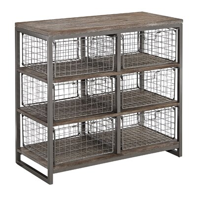 Moriann Wire Basket 6 Drawer Chest