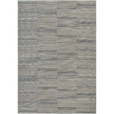 Haubrich Black/Tan Indoor/Outdoor Area Rug Rug Size: 53 x 76