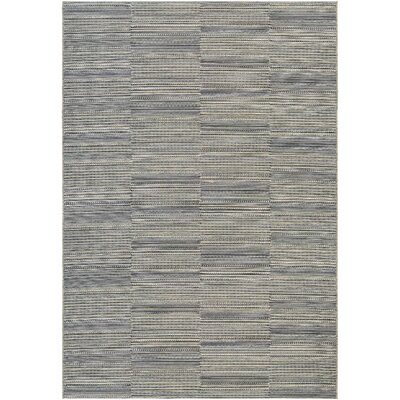 Napa Black/Tan Indoor/Outdoor Area Rug Rug Size: 53 x 76