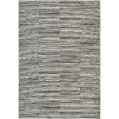 Haubrich Black/Tan Indoor/Outdoor Area Rug Rug Size: 2 x 37