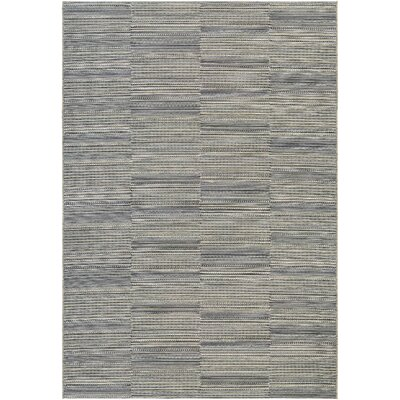 Haubrich Black/Tan Indoor/Outdoor Area Rug Rug Size: Runner 23 x 71