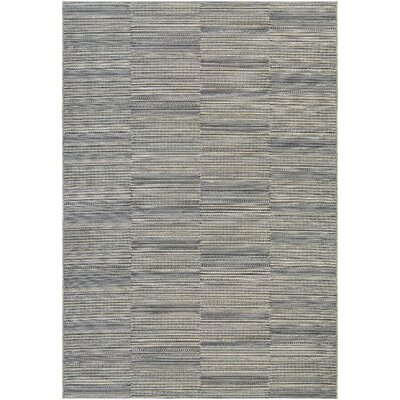 Napa Black/Tan Indoor/Outdoor Area Rug Rug Size: 311 x 56