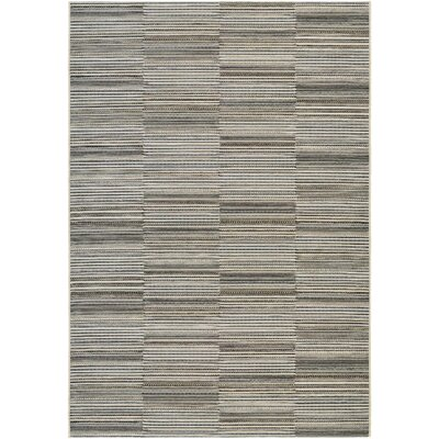 Napa Black/Gold Indoor/Outdoor Area Rug Rug Size: Rectangle 2 x 37
