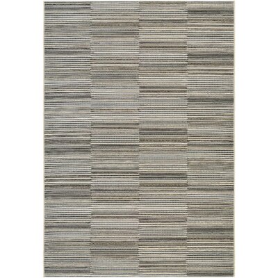 Napa Black/Gold Indoor/Outdoor Area Rug Rug Size: Rectangle 66 x 96